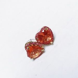 Betsey Johnson - Heart Gem Earrings